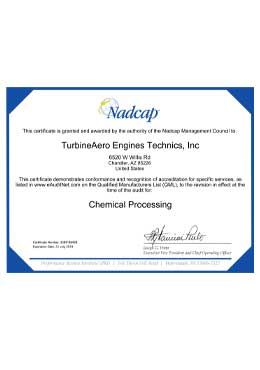 Download Certification Package Nadcap AS9100 Chandler PDF