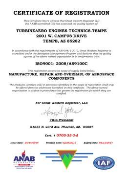 Download ISO9001 AS9100 TET Tempe PDF