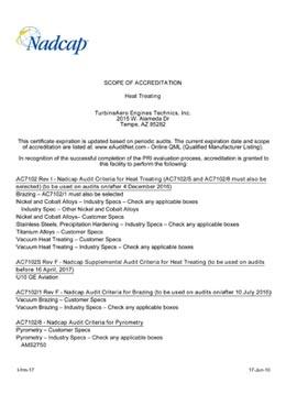 Download Nadcap Heat Treating TET Tempe 2 PDF