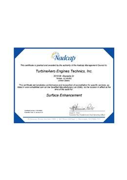 Nadcap – Surface Enhancement (TET)