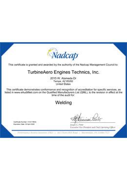Nadcap – Welding (TET)
