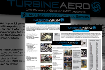 APU MRO Brochures from TurbineAero